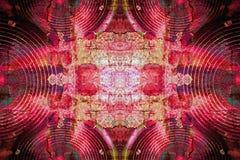 Altoparlanti rossi dell'audio di lerciume Fotografie Stock