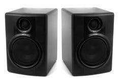Altoparlanti stereo neri Fotografia Stock Libera da Diritti