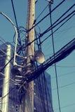 Altoparlanti sulla posta elettrica Fotografia Stock