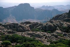 Altopiani del Madagascar Immagine Stock