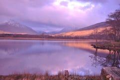 Altopiani dello Scottish di timore del lago Fotografia Stock Libera da Diritti