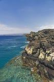 Altos acantilados y océano, punta del sur, Hawaii Fotografía de archivo