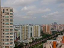 Altos apartamentos de la subida imagen de archivo