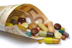 Altos costes para la medicina Fotografía de archivo libre de regalías