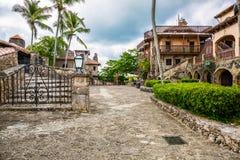 Altos de Chavon, Dominican Republic. Small street in a medieval village Altos de Chavon, Dominican Republic Royalty Free Stock Photography