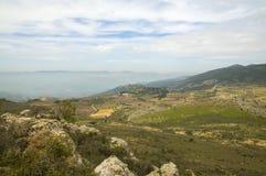 Altos do Golán da vista Fotos de Stock Royalty Free