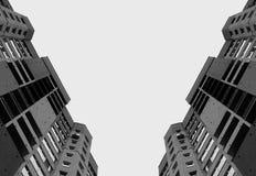 Altos edificios de la ciudad Foto de archivo libre de regalías