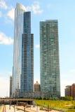 Altos edificios de la subida de Chicago Imagenes de archivo