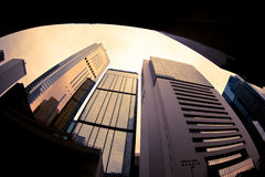 Altos edificios de la subida de Hong-Kong Imagen de archivo