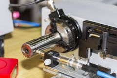 Altos exactitud y moderno de la punta de prueba para la dimensión o del agotamiento que mide para el trabajo industrial imagenes de archivo