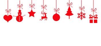 Altos iconos de la Navidad del detalle ilustración del vector