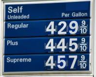 Altos precios de la gasolina Imagen de archivo