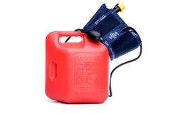 Altos precios de la gasolina que causan la tensión arterial alta Fotografía de archivo libre de regalías