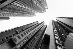 Altos rascacielos de la subida Fotos de archivo libres de regalías