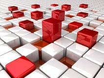 Altos rectángulos rojos abstractos Foto de archivo libre de regalías