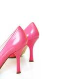 Altos talones del color de rosa caliente Foto de archivo