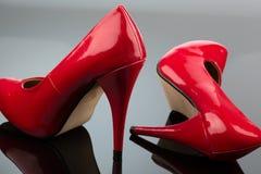 Altos talones rojos Imagen de archivo