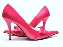 Altos talones rosados Fotos de archivo