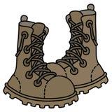Altos zapatos de los militares del cordón de la arena Foto de archivo