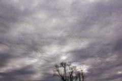 Altostratus undulatus clouds Royalty Free Stock Photos