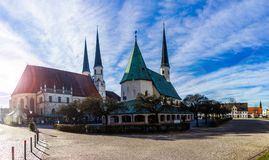 Altotting in Bavaria. Winter in Germany. Central square of Altotting in Bavaria. Winter in Germany Stock Photography