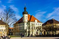 Altotting im Bayern Winter in Deutschland lizenzfreie stockbilder