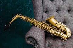 altowy saksofon Obraz Royalty Free