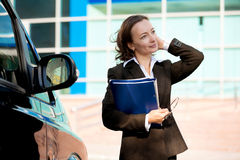 Altractive businesswoman with her arms crosed Stock Image