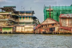 Altro lato di Bangkok Fotografia Stock