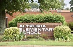 Altruria台中国小标志巴特利特,TN 免版税库存照片