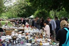 Altstadt-Flohmarkt汉诺威是最旧的跳蚤市场在德国 免版税库存图片