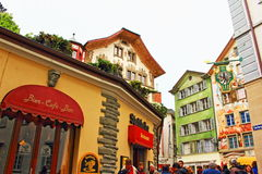 Altstadt Luzern Old town Lucerne Switzerland Royalty Free Stock Photography