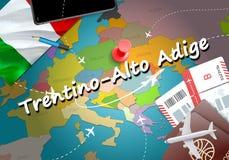 altu Adige miasta podróż i turystyki miejsce przeznaczenia pojęcie ilustracja wektor