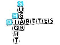 altura Sugar Crossword de la diabetes 3D Imagen de archivo libre de regalías