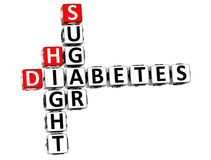 altura Sugar Crossword do diabetes 3D Foto de Stock
