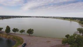 Altus市水库空中建立的射击  股票视频