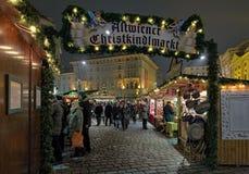 Altwiener圣诞节市场在维也纳,奥地利 库存图片