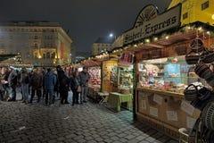 Altwiener圣诞节市场在维也纳,奥地利 免版税库存图片