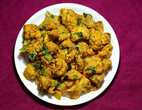 Alu Gobi ki sabzi- potatoes with cauliflower Stock Photography