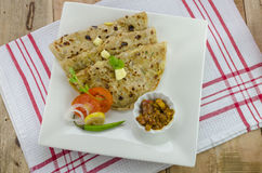 Alu paratha Royalty Free Stock Photo