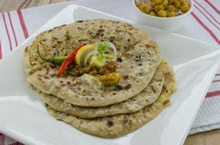 Alu paratha (potato stuffed bread) Stock Photography
