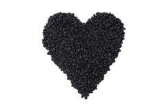 Alubias negras: Alimento sano del corazón Imagen de archivo libre de regalías