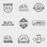Aluguel da bicicleta Grupo do logotipo do vintage, o moderno e o retro Imagem de Stock Royalty Free