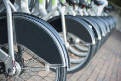 Aluguel da cidade uma bicicleta Imagem de Stock Royalty Free