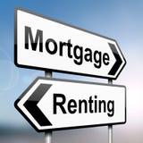 Aluguel ou compra. Imagem de Stock Royalty Free