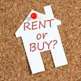 Aluguel ou compra? foto de stock