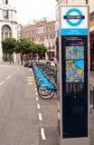 Aluguer do ciclo de Londres Foto de Stock