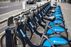 Aluguer do ciclo de Londres Imagens de Stock