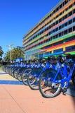 Aluguer Melbourne das bicicletas  Fotos de Stock