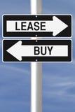 Aluguer ou compra Imagem de Stock
